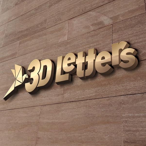 επιγραφές 3D γράμματα